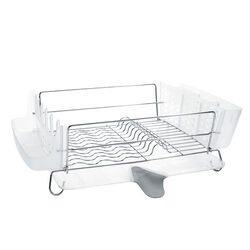 OXO  Good Grips  6.1 in. H x 19.8 in. W x 17.1 in. L Stainless Steel  Dish Rack  Silver