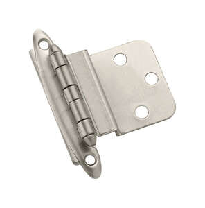 Amerock  2 in. W x 2-3/4 in. L Satin Nickel  Steel  Decorative Hinge  2