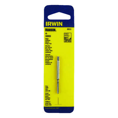 Irwin  Hanson  High Carbon Steel  SAE  Plug Tap  4-36NS  1 pc.
