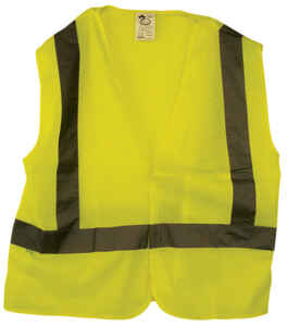 CH Hanson  Reflective Polyester Mesh  Safety Vest  Hook and Loop  Green  One Size Fits All  1 pk