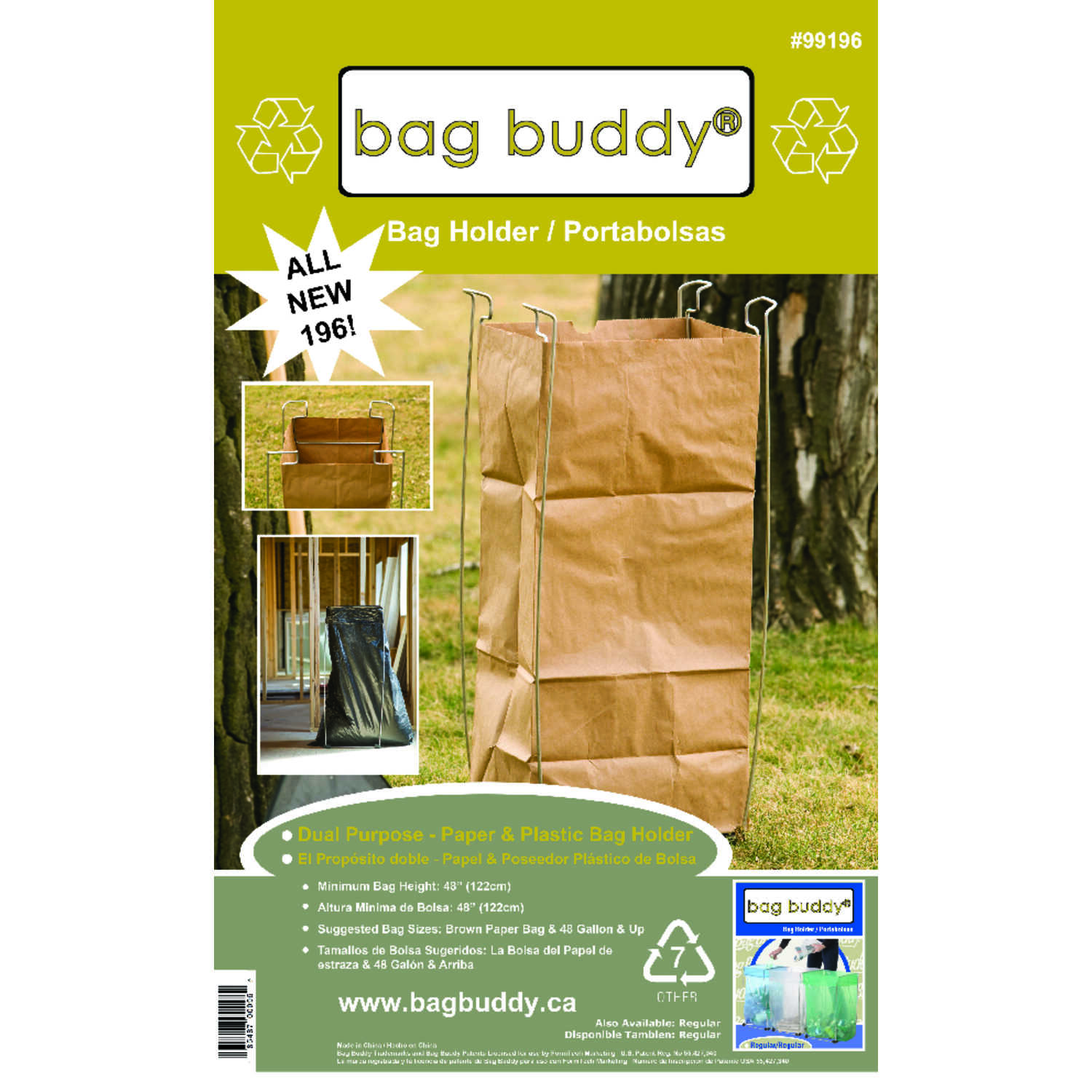 Bag Buddy  55 gal. Steel  Bag Holder