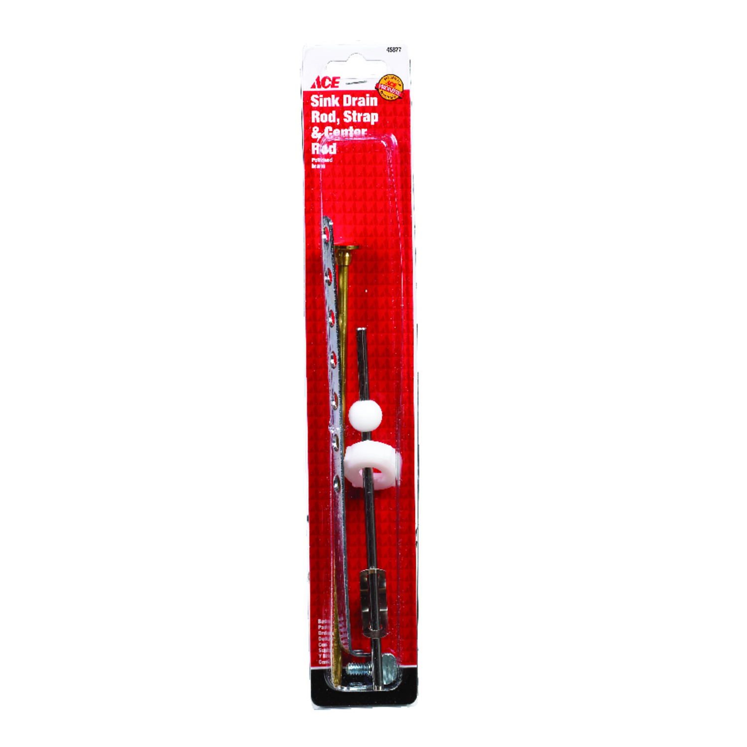 Ace N/A Dia. Sink Drain Rod and Strap Brass Brushed - Ace Hardware