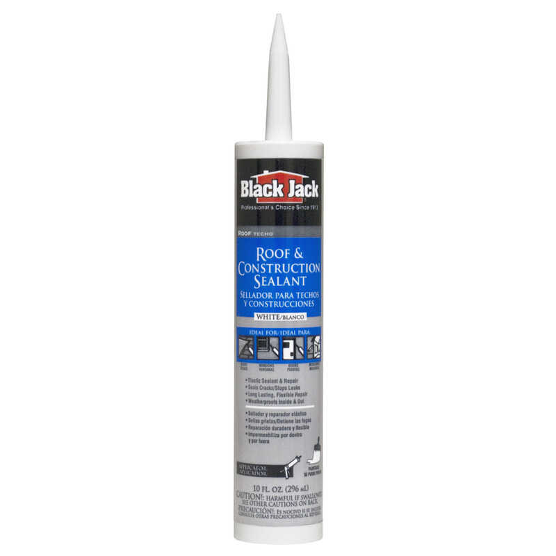 Black Jack  Gloss  White  Elastomeric  Roof Patch  10.1 oz.