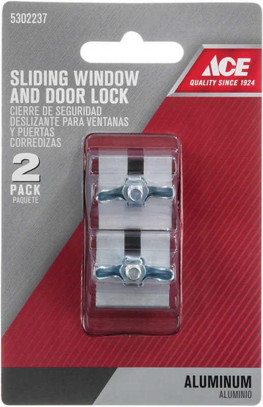 Ace  Aluminum  Aluminum  Indoor  Slide Locks