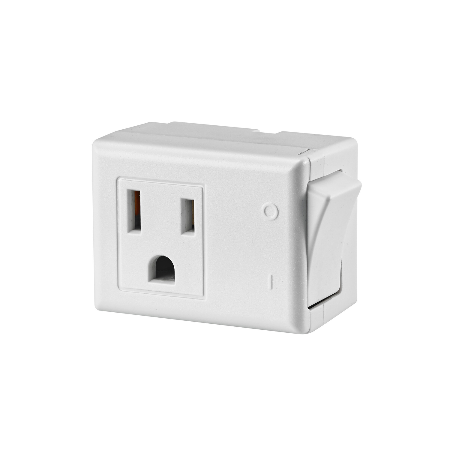 Leviton  Grounded  3 outlets Switch Tap Adapter  1 pk Surge Protection