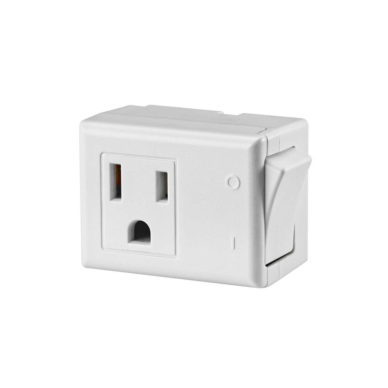 Leviton  Grounded  1 outlets Switch Tap Adapter  1 pk