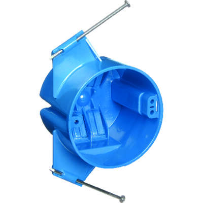 Carlon  2-3/4 in. Round  Polycarbonate  1 gang Blue  Electrical Ceiling Box