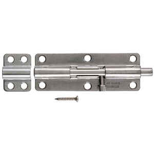 Ace  6 in. L Polished  Heavy Duty Barrel Bolt  Stainless Steel