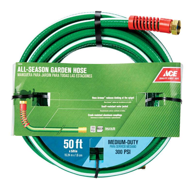 Ace 5/8 in  Dia  x 50 ft  L Medium-Duty Green Hose - Ace