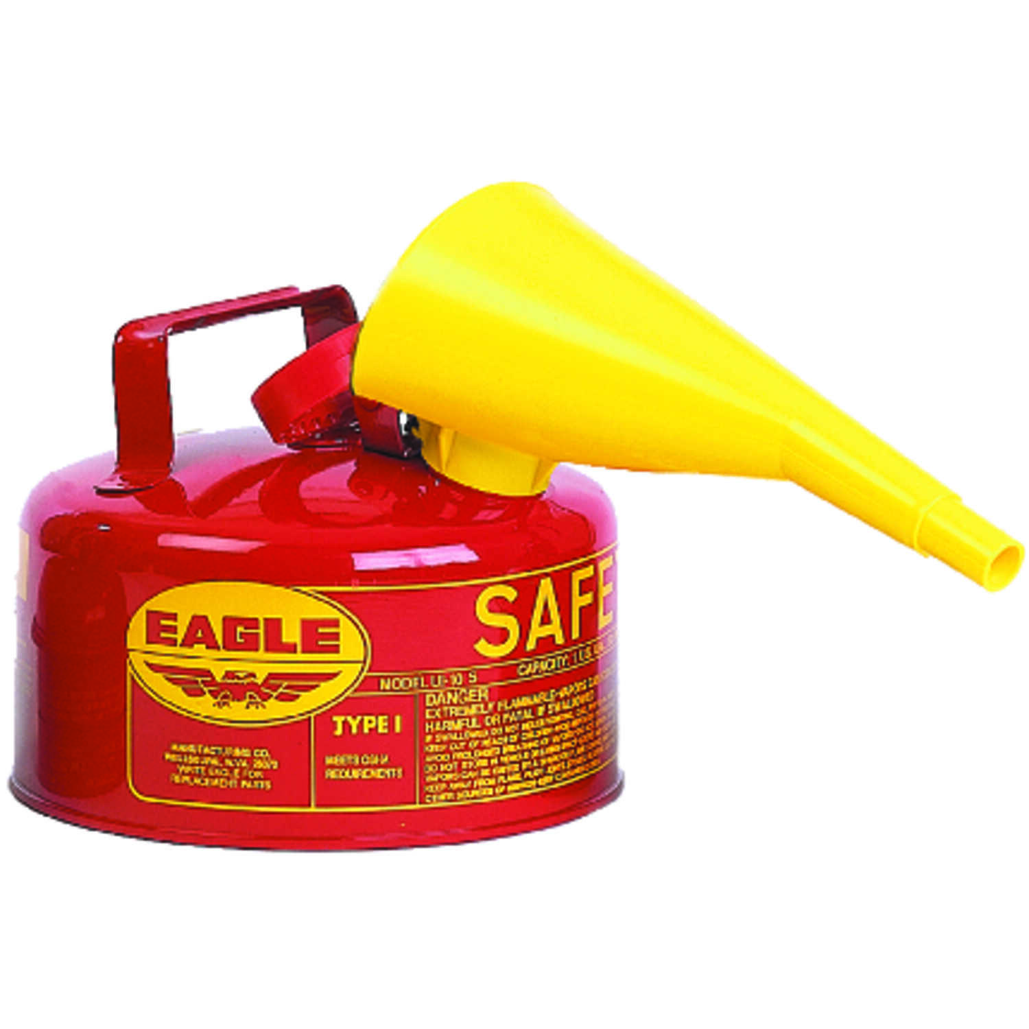 Eagle  Steel  Safety Gas Can  1 gal.