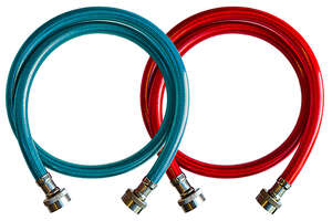 Ultra Dynamic Products  Washing Machine Hose  3/8 in. Dia. x 3/4 in. Dia. x 4 ft. L Rubber