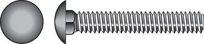 Hillman 5/16 in. Dia. x 2-1/2 in. L Stainless Steel Carriage Bolt 25 pk