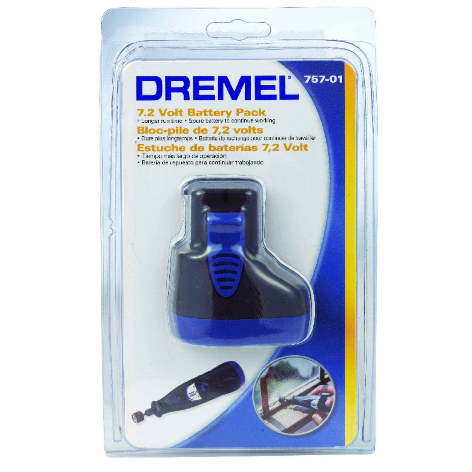 Dremel  MultiPro  7.2 volts Ni-Cad  Battery Pack  1 pc.