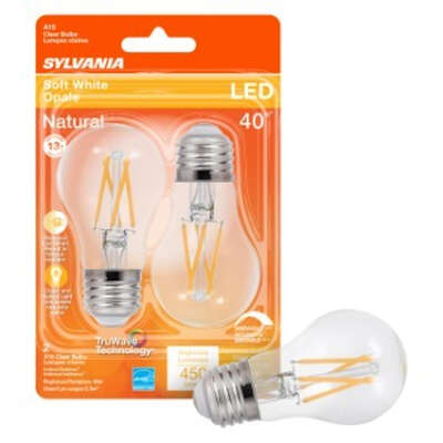Sylvania  Natural  A15  E26 (Medium)  LED Bulb  Soft White  40 Watt Equivalence 2 pk