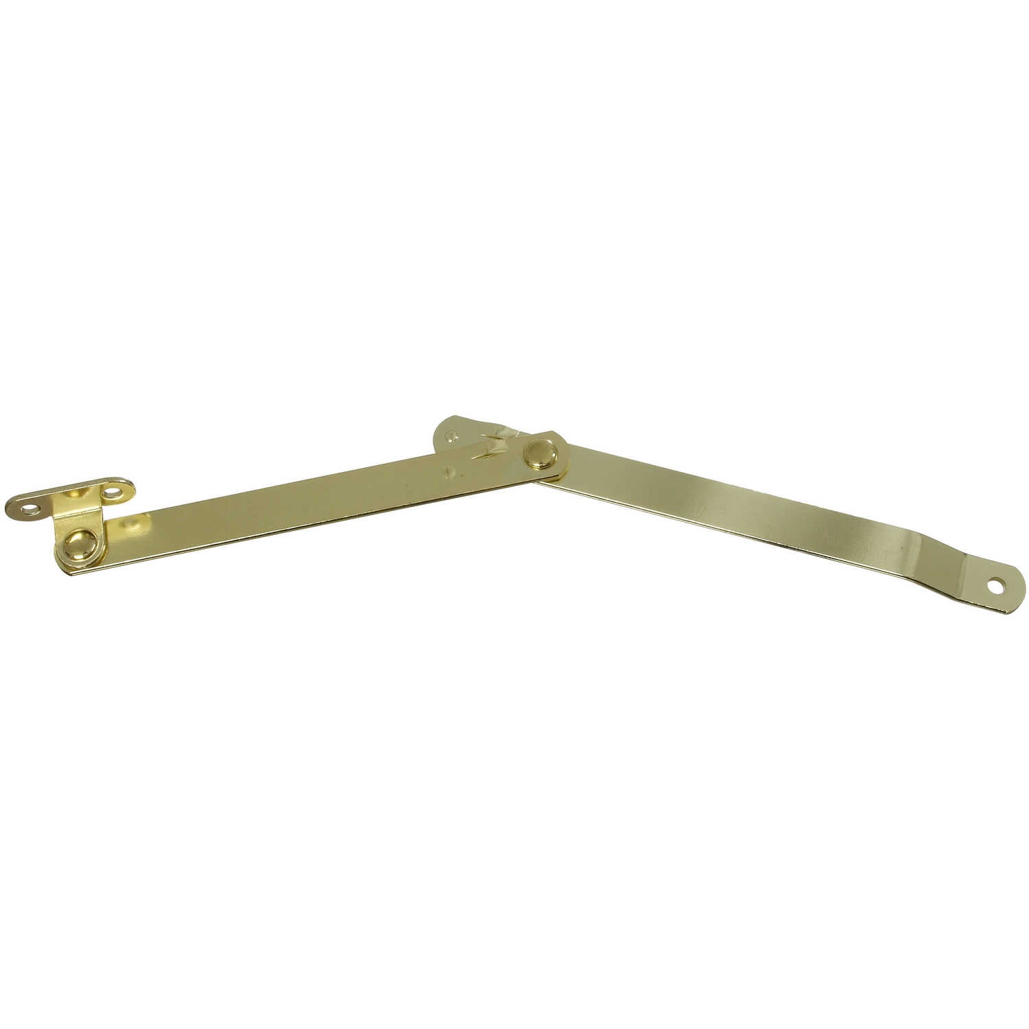National Hardware  Brass-Plated  Steel  Left Hand Folding Support  1 pk 9.8 in.