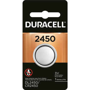 Duracell  Lithium  3 volt Medical Battery  1 pk 2450