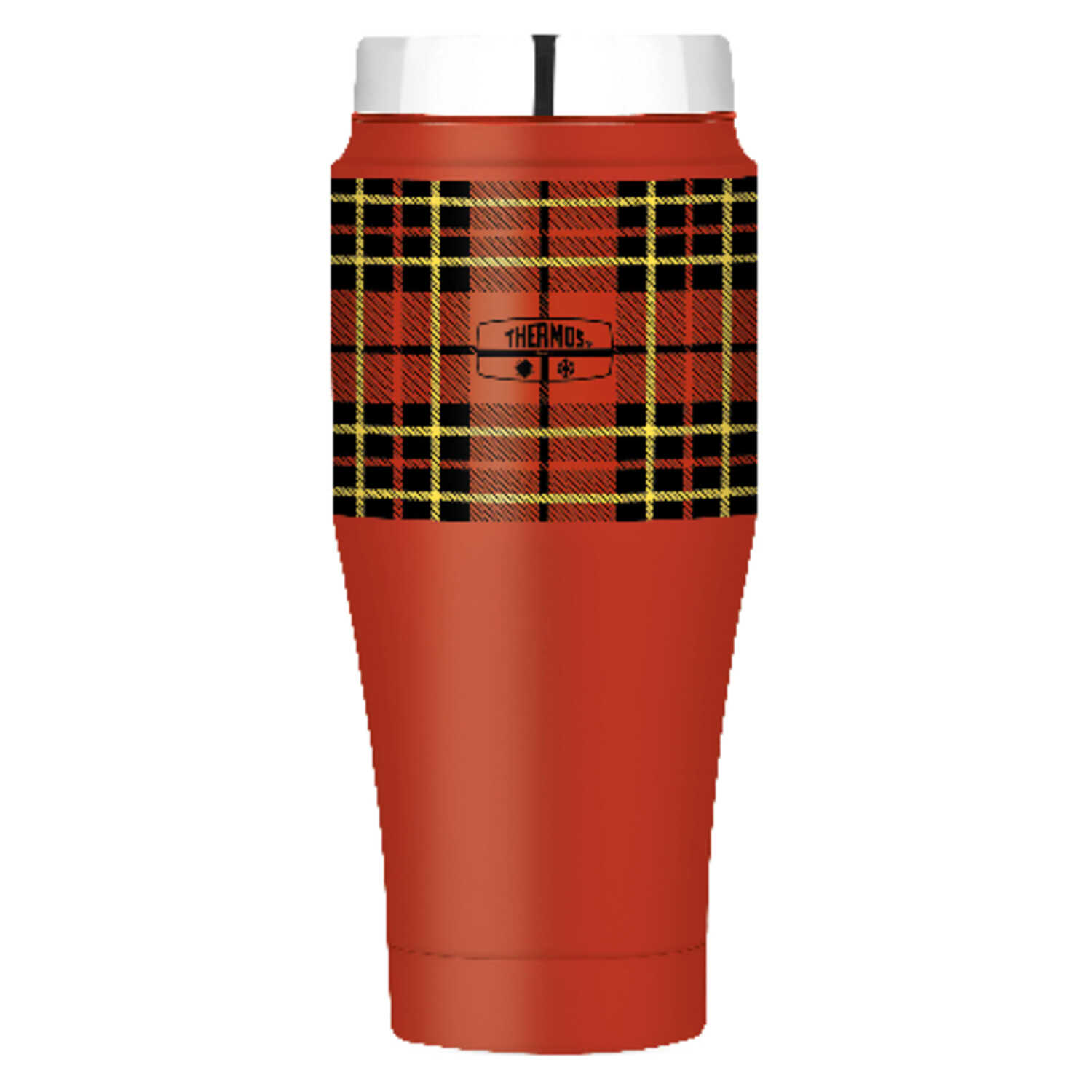 Thermos  Red Plaid  Stainless Steel  Travel Tumbler  BPA Free 16 oz.