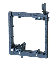 Arlington  5.46 in. Square  Plastic  2 gang Mounting Device  Black