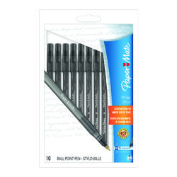 Papermate  Write Bros  Black  Ball Point Pen  10 pk