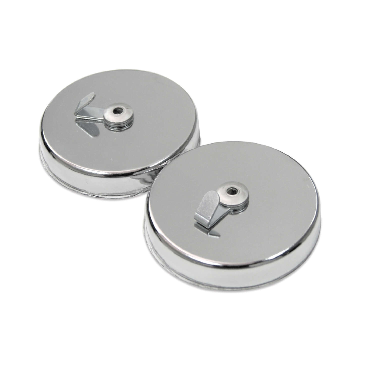 Master Magnetics  1 in. Ceramic  Magnetic Window Hooks  35 lb. pull 3.4 MGOe Silver  2 pc.