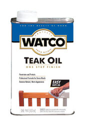 Watco Brown Oil-Based Teak Oil Finish 1 pt.