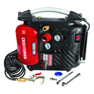 Craftsman  AirBoss  1.2 gal. Portable Air Compressor  135 psi 3/4 hp
