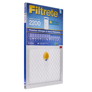 3M  Filtrete  20 in. W x 14 in. H x 1 in. D 12 MERV Pleated Smart Air Filter