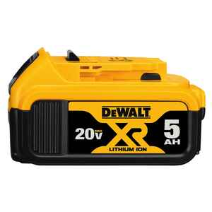 DeWalt  20V MAX XR  20 volt 5 Ah Lithium-Ion  Battery  1 pc.