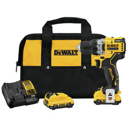 DeWalt  Xtreme  12 volt 3/8 in. Brushless  Cordless Drill Driver  Kit (Battery & Charger)