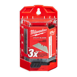 Milwaukee  3 in. L x 0.03 in.  Micro Carbide Metal  Utility  100 pc. Blade Dispenser with Blades