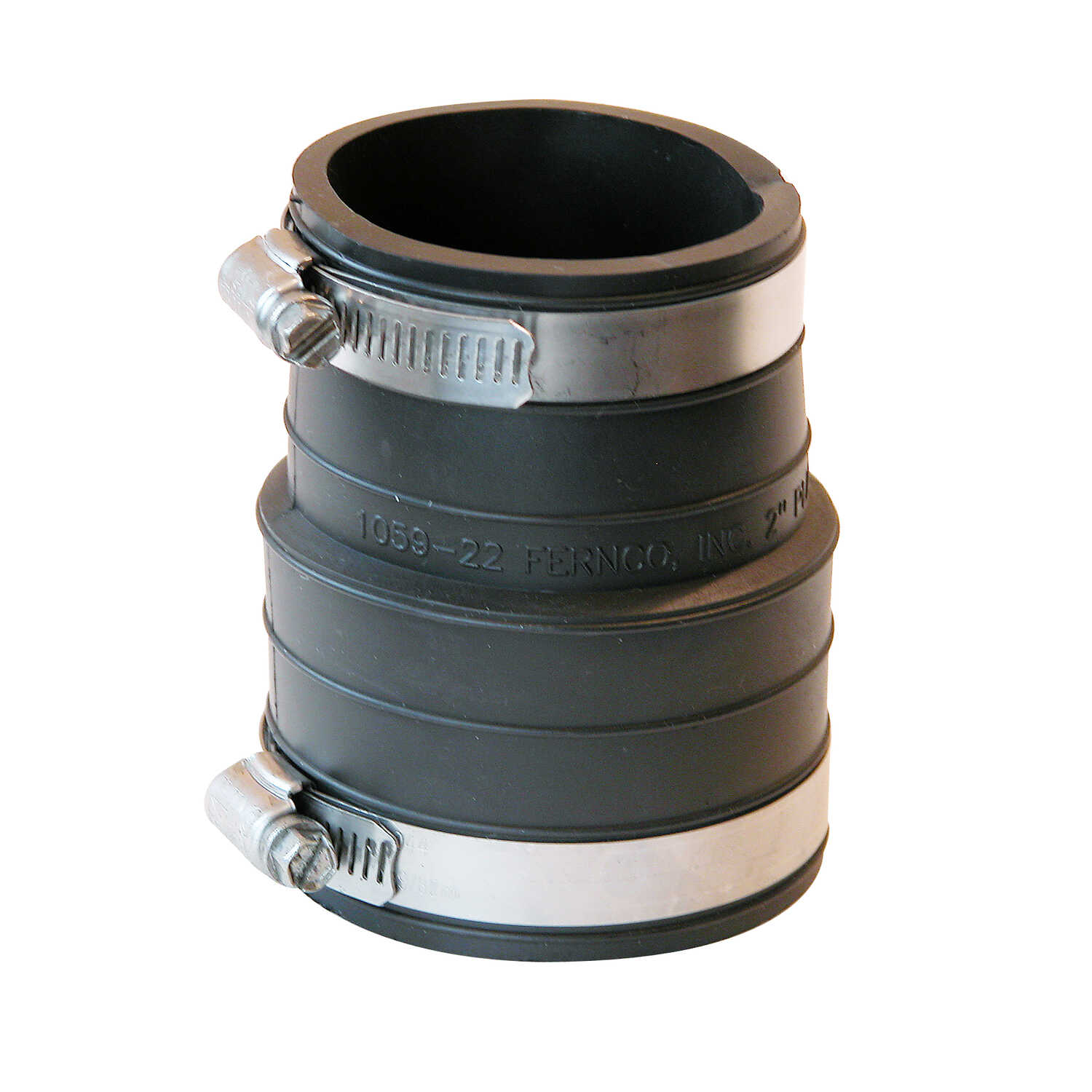 Fernco  Schedule 40  2 in. Hub   x 2 in. Dia. Socket  Flexible PVC  For DWV, sewer and drain Flexibl