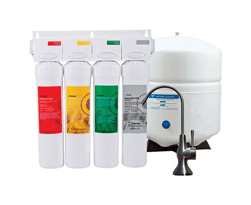 Watts  Premier  Reverse Osmosis System W/Monitor  For Under Sink 3 gal.