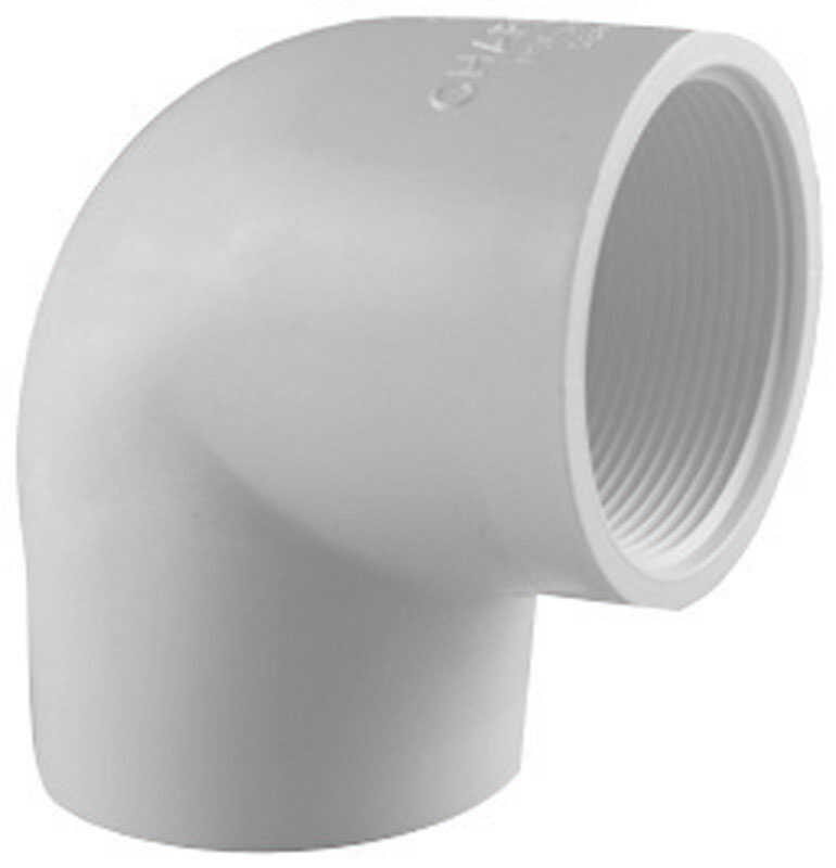 Charlotte Pipe  Schedule 40  2 in. Slip   x 2 in. Dia. FPT  PVC  Elbow