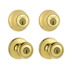 Kwikset Tylo Polished Brass Double Entry Door Kit ANSI/BHMA Grade 3 1-3/4 in.