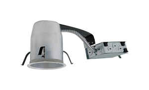 Halo  Silver  4 in. W Aluminum  LED  Recessed Lighting Housing