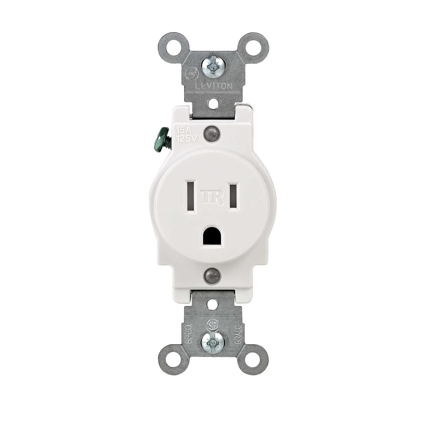 Leviton  15 amps 125 volt White  Outlet  5-15R