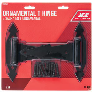Ace  7 in. L Steel  Ornamental T Hinge  2 pk
