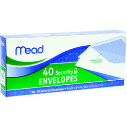 Mead  9.5 in. W x 4.12 in. L No. 10  White  Envelopes  40 pk