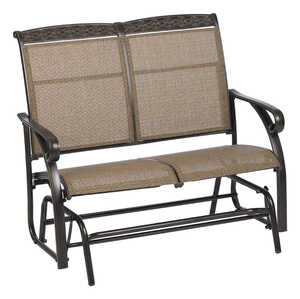 Living Accents  Carlisle  Aluminum  2  225 lb. 1 pc. 28 in. 40 in. Glider  44 in.