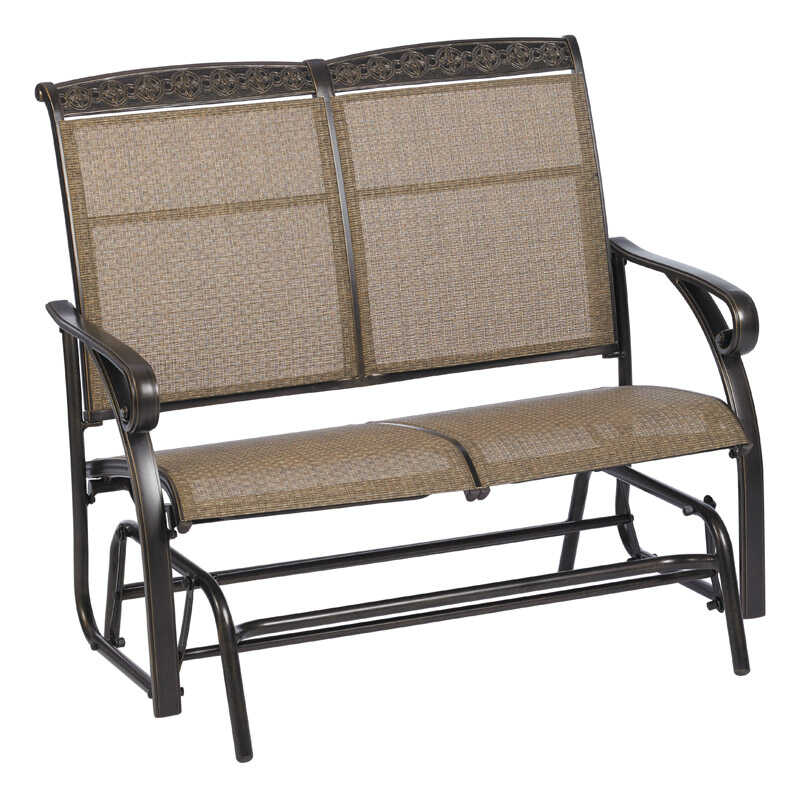 Living Accents  Carlisle  Aluminum  2 person  Glider  40 in. 44 in. 28 in. 225 lb. 1 pc.