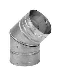 DuraVent  4 in. Dia. x 4 in. Dia. 45 deg. Galvanized Steel/Stainless Steel  Stove Pipe Elbow