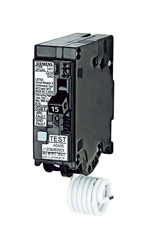 Siemens  15 amps Dual Function  Single Pole  Circuit Breaker