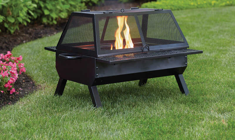 Living Accents  Rectangular deep fire bowl  Wood  Fire Pit/Grill  26 in. H x 26 in. W x 35 in. D Ste