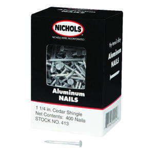 Nichols Wire  1-1/4 in. L Shingle  Aluminum  Nail  Round Head Smooth  400  400 pc.