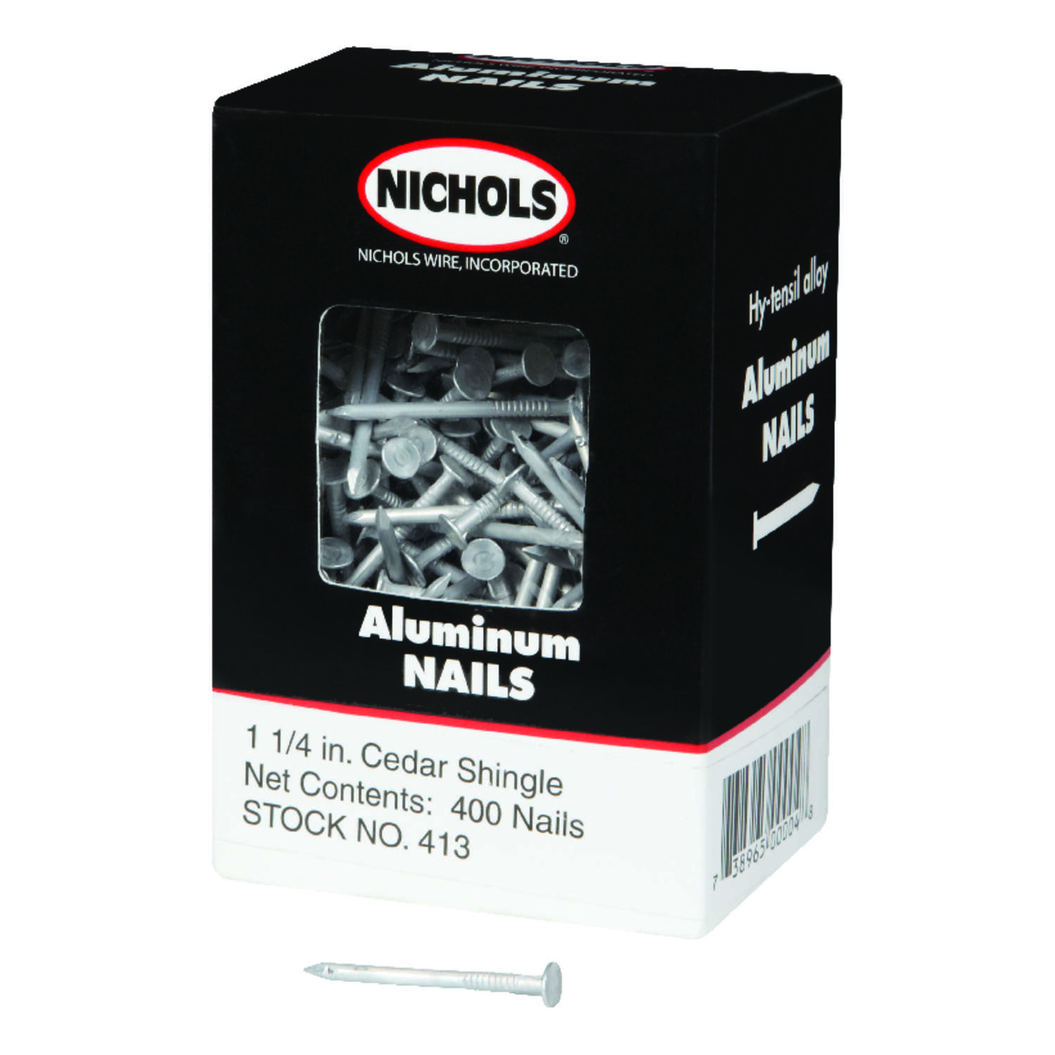 Nichols Wire 1-1/4 in. L Shingle Aluminum Nail Round Head Smooth ...