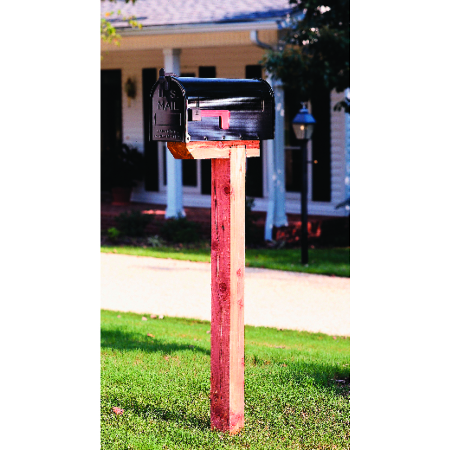 Gibraltar Mailboxes  4 in. W x 41 in. D x 4 in. H Red  Cedar  Mailbox Post  Natural