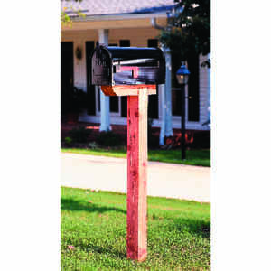 Gibraltar Mailboxes  4 in. H x 4 in. W x 41 in. D Natural  Red  Cedar  Mailbox Post
