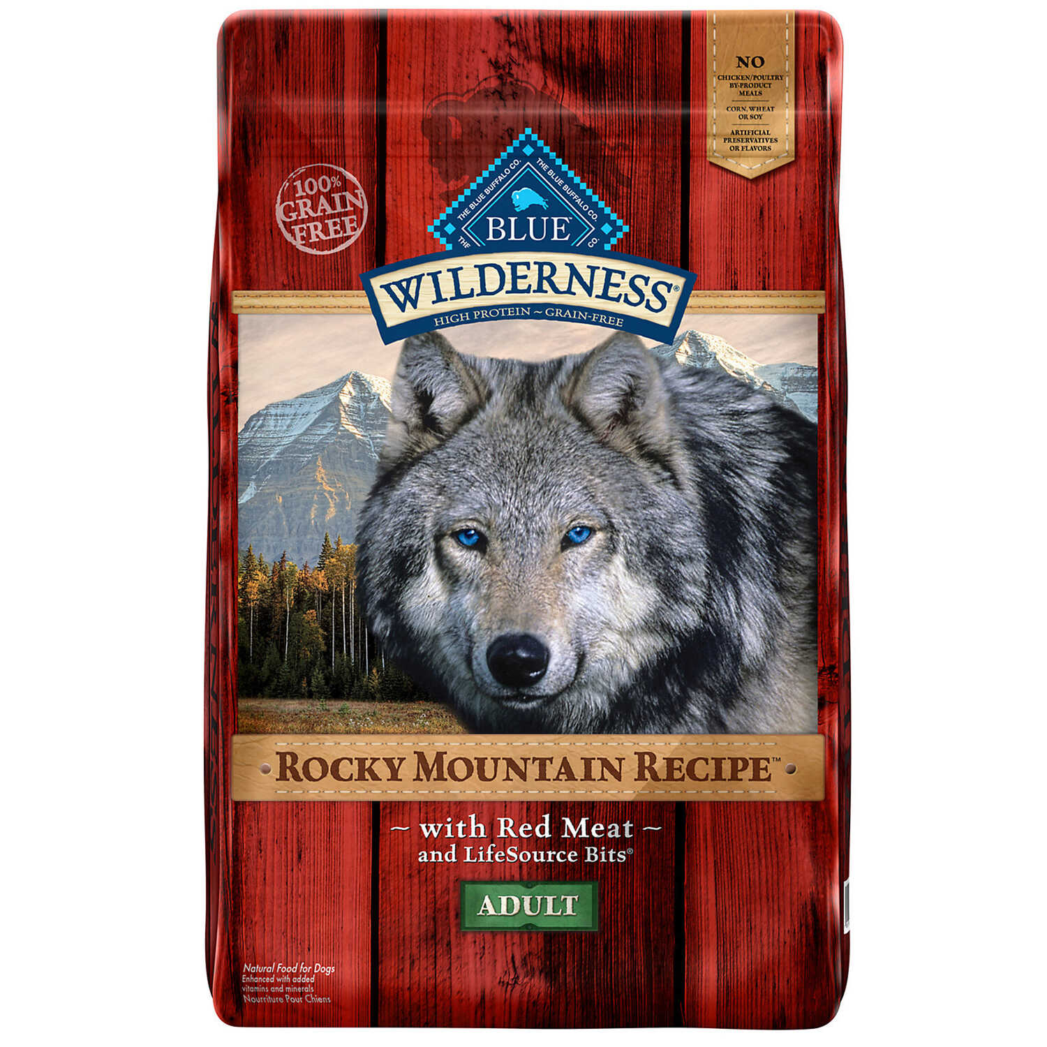 Blue Buffalo  Blue Wilderness  Rocky Mountain Red Meat  Dry  Dog  Food  Grain Free 22 lb.