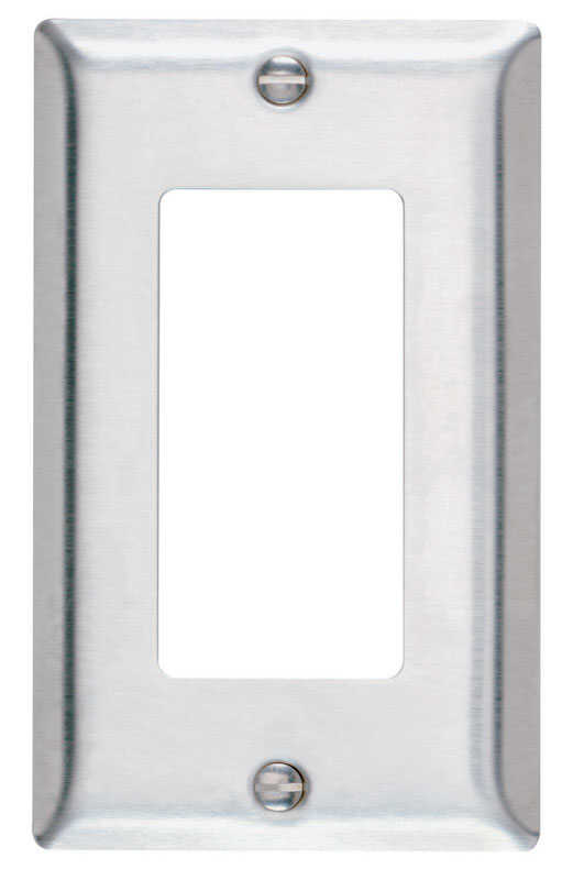 Pass & Seymour  Silver  1 gang Stainless Steel  1 pk Wall Plate