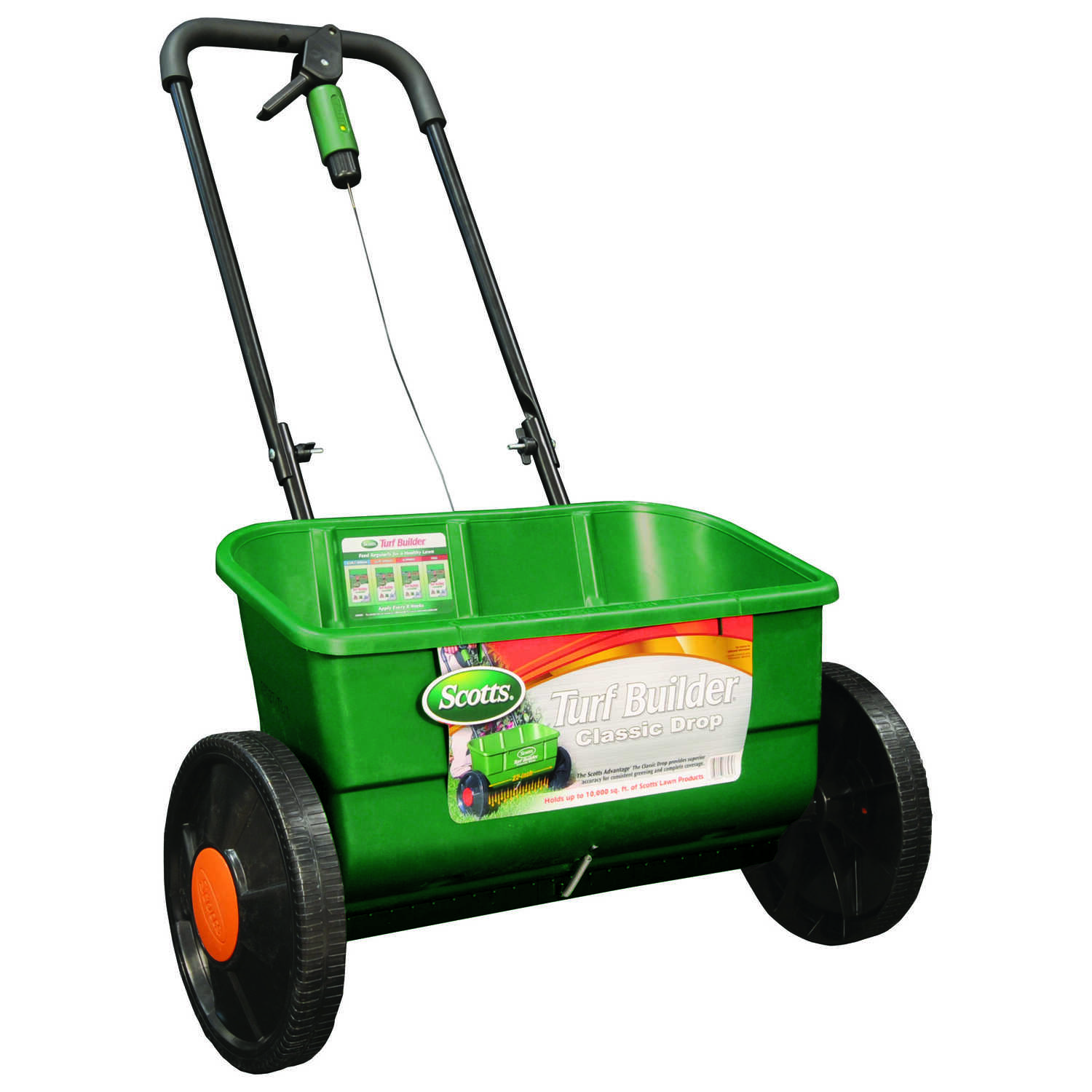 Scotts  Turf Builder  Push  Spreader  For Fertilizer